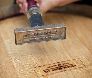 Union Wine barrel stamp